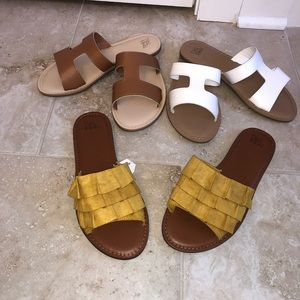 3 NEW pairs of sandals!